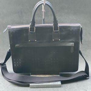 BURBERRY black check nova laptop bag
